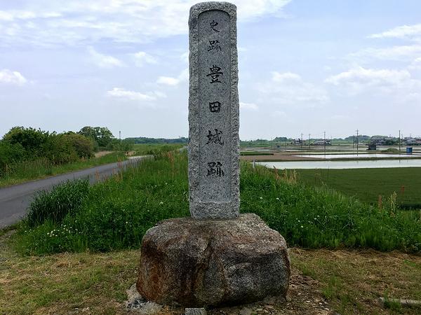 史跡豊田城跡の石碑