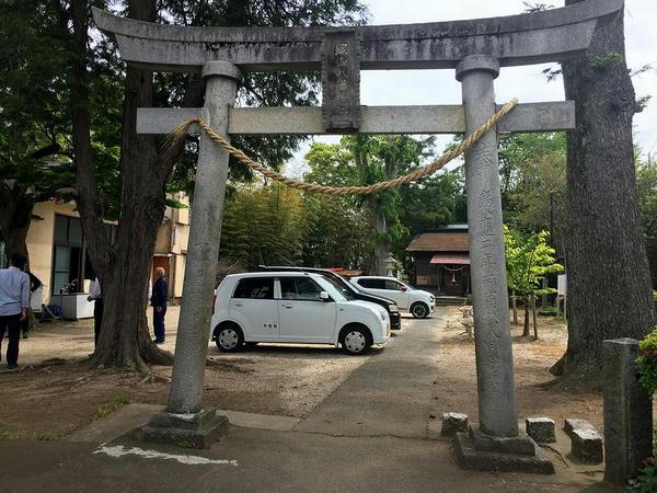 下館城跡の八幡神社