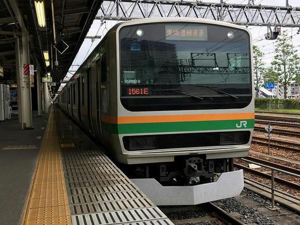 宇都宮から乗車した普通列車