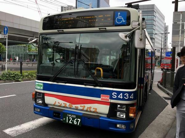 川崎駅から乗車した無料送迎バス