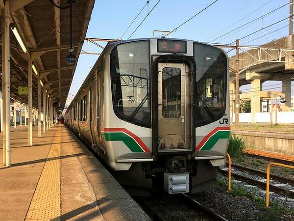 福島駅から乗車した福島行き普通列車