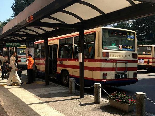 福島駅から乗車した直行バス