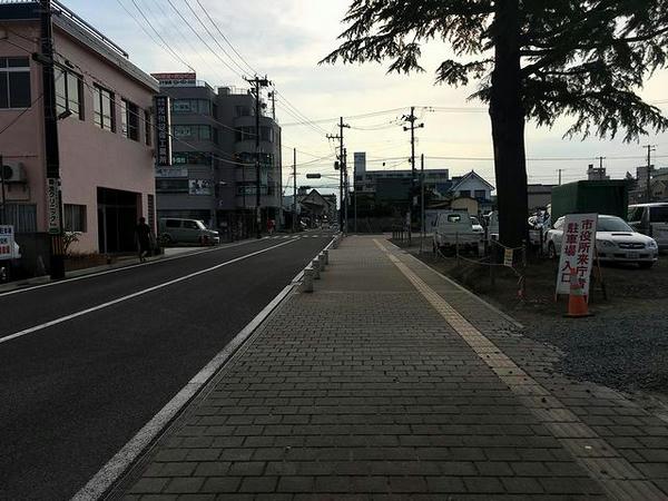 福島駅に向かって歩きます