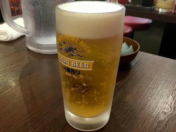 ジョッキ生ビール 400円
