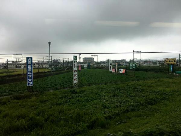 伊勢中川駅付近の短絡線を通過