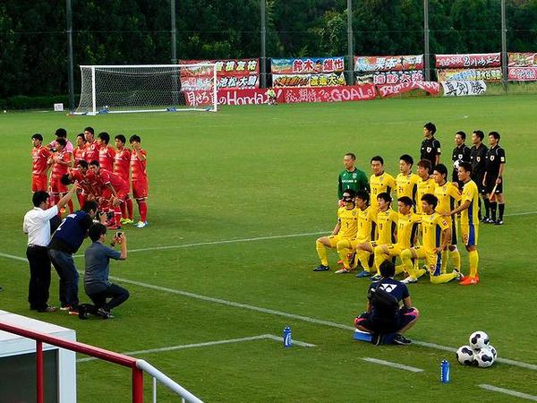 試合前の集合写真