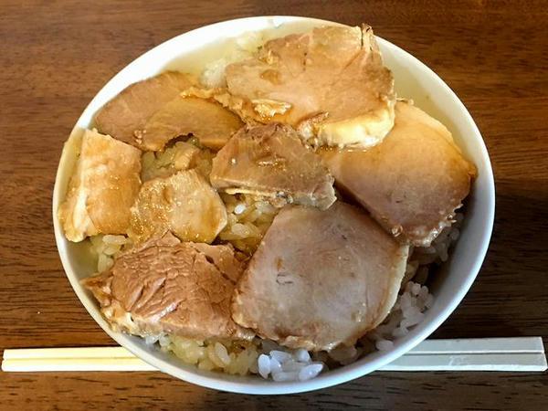 チャーシュー丼セット 300円