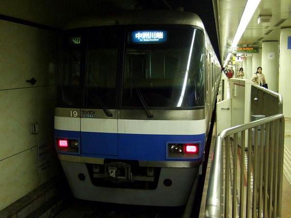 中洲川端駅に到着した391