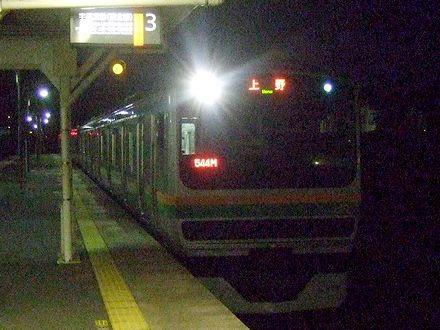 某駅に入線する544M