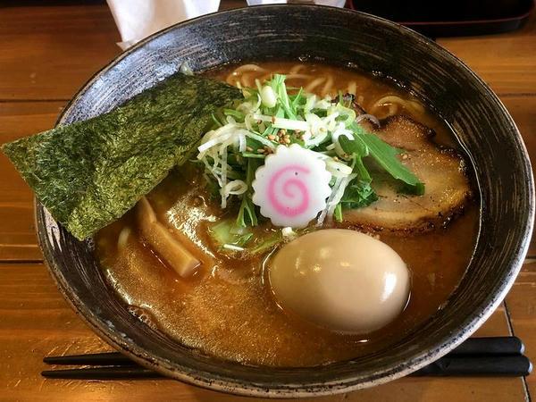 極み!!海老だしら~めん 790円 + 特製煮玉子 110円