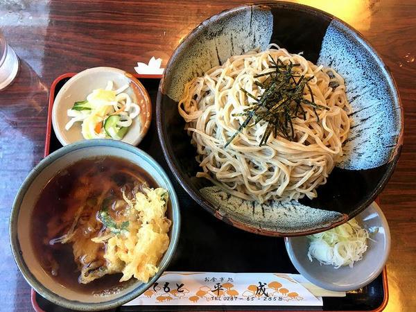浸しかき揚げ(つけ麺)(あたたかい そば) 710円 + 大盛り 100円