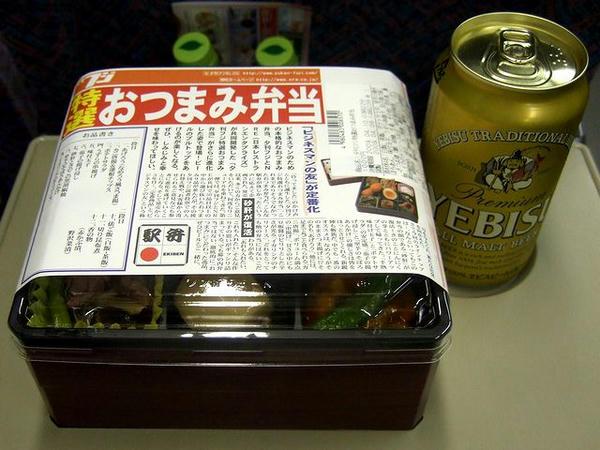 夕刊フジ特選おつまみ弁当とエビスで乾杯!