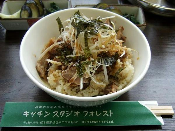 ふきミソの焼豚御飯 200円