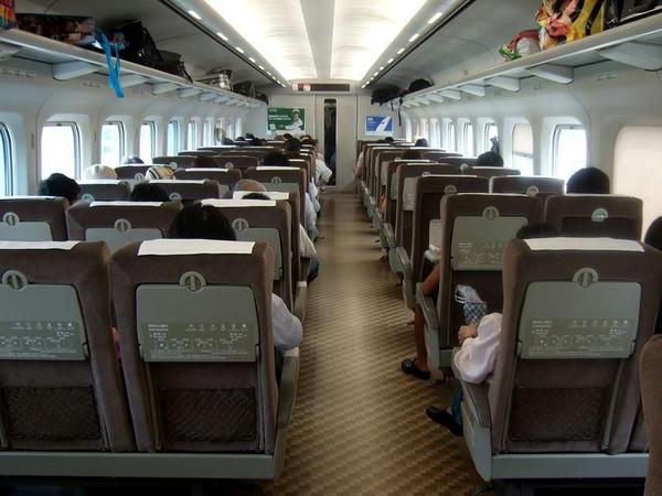 東京発車時点での車内