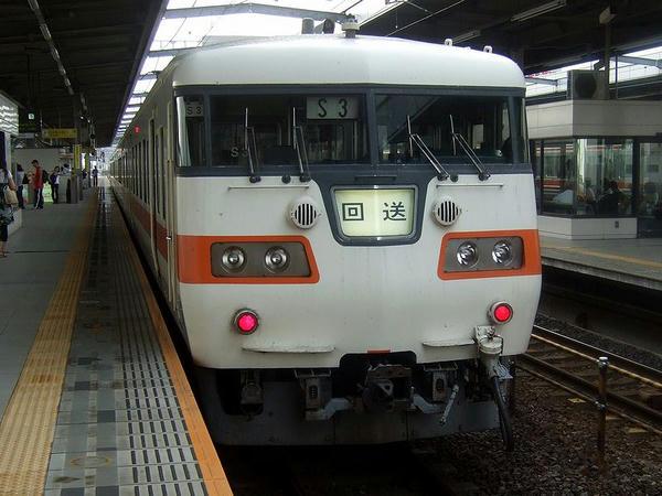 岐阜駅に到着して回送となった列車