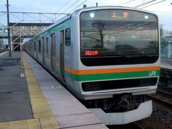 氏家駅で発車を待つ532M