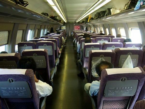京都駅発車時点での車内