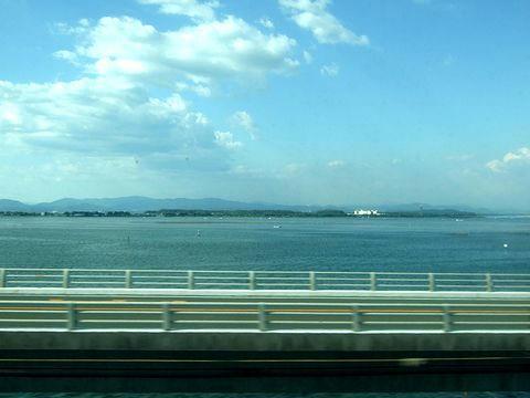 車窓から観た浜名湖