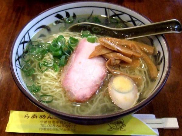 鮎だし塩らーめん(ロース焼豚一枚入り) 600円