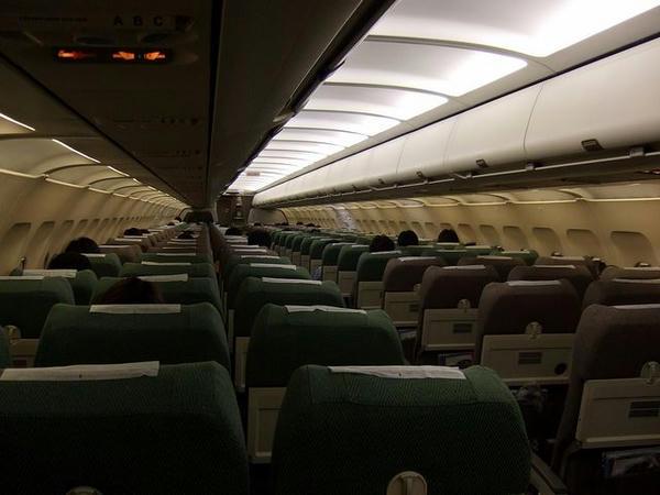 ANA870便の機内