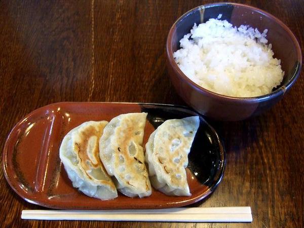 餃子セット(餃子+ごはん) 300円