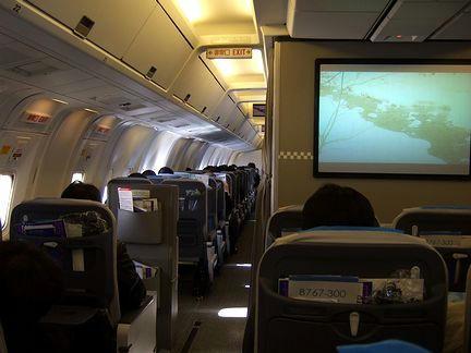 ANA249便の機内