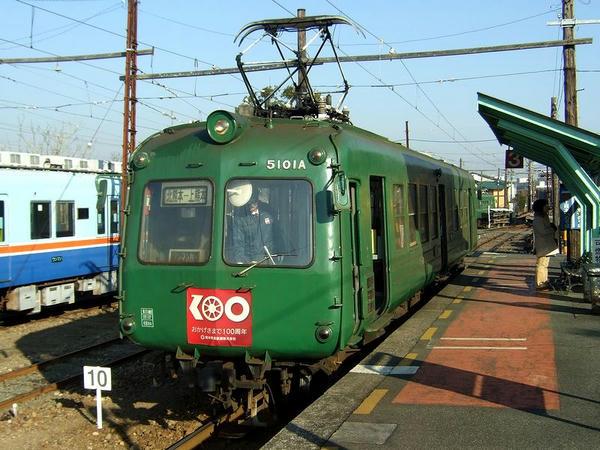 北熊本駅に到着した列車