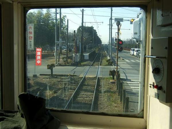 再春荘前駅進入