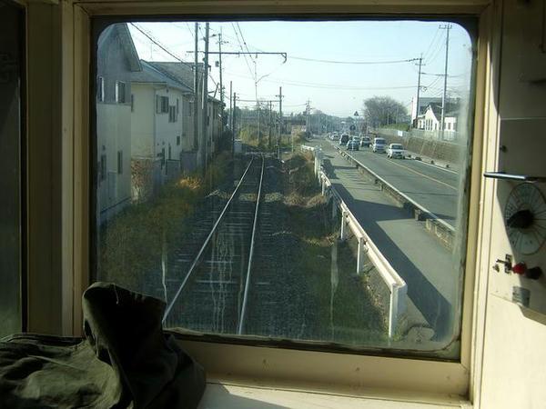黒石駅手前まで国道387号と併走