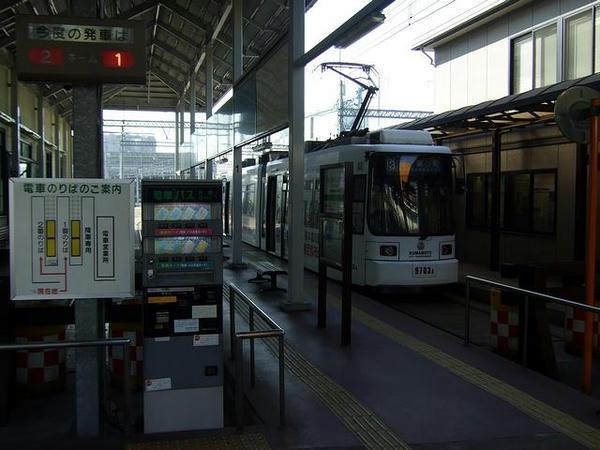 上熊本駅前電停の構内