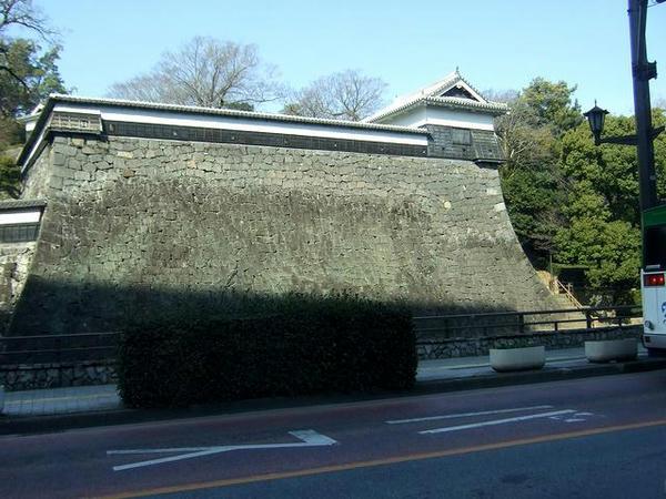 熊本城をかすめて