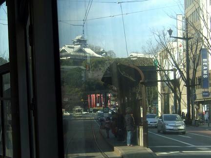 車窓風景1 熊本城