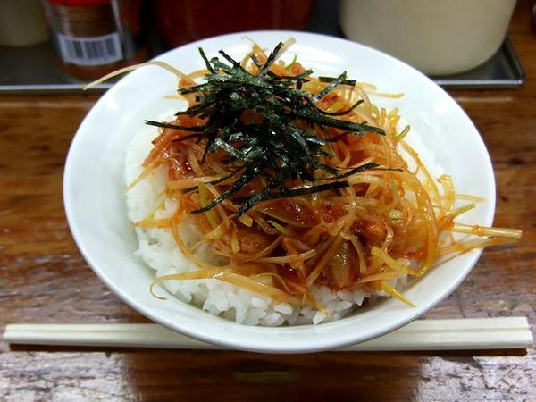 栃木家のC定食に付くチャンジャ丼