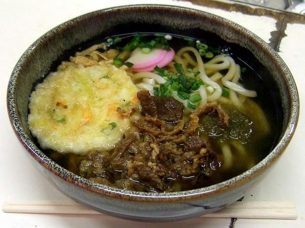 天ぷら肉うどん 600円