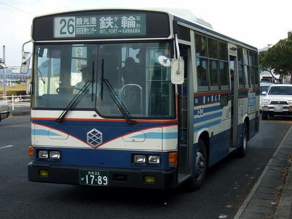 乗車した亀の井バス