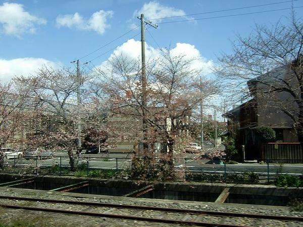 車窓は早春から春へ