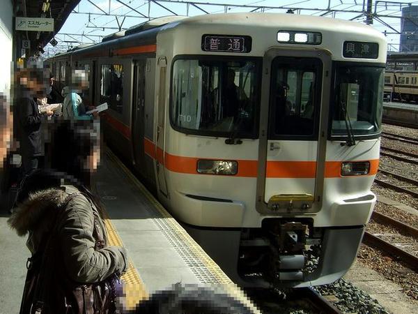 豊橋駅に入線する958M