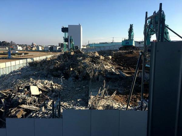 取り壊された2号スタンドの跡地