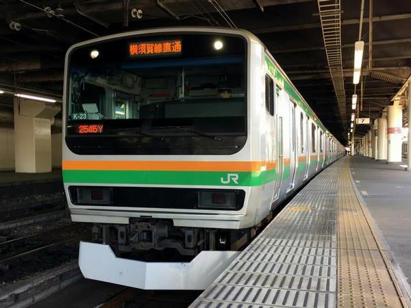 宇都宮駅で発車を待つ湘南新宿ライン