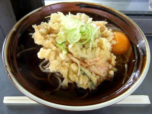 天ぷら玉子そば 500円