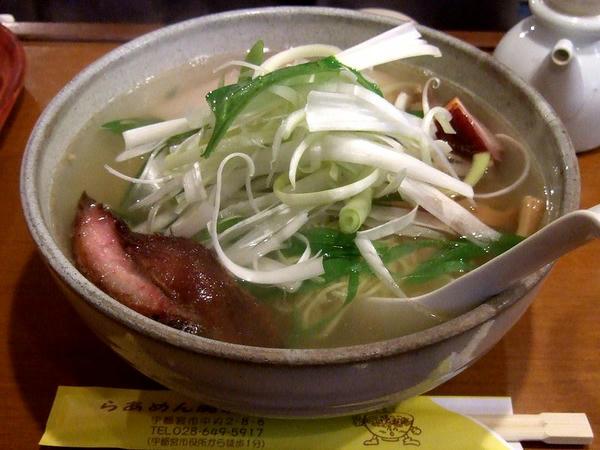 鯛だし焼豚麺スペシャル那須の白美人ねぎ入り(塩・大盛) 1000円
