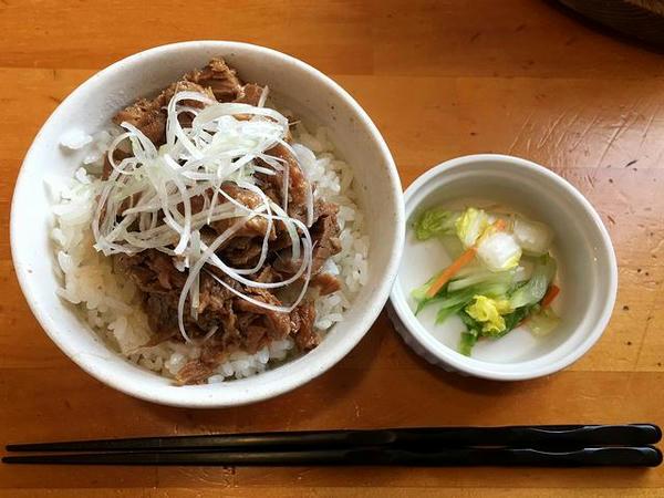 チャーシュー丼(小) 180円