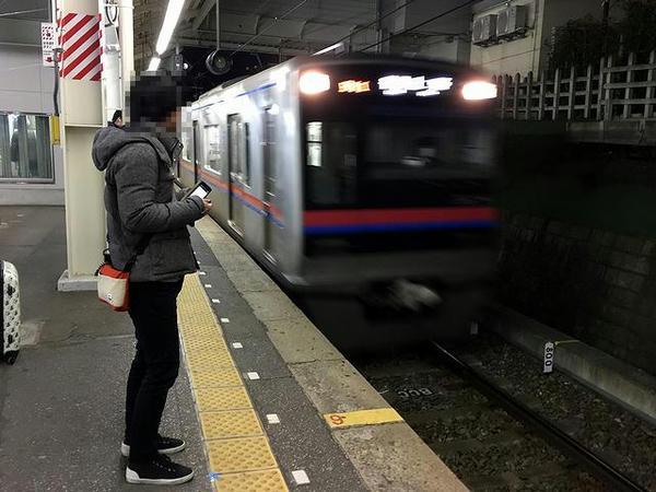 東中山駅から乗車した京成上野行き普通列車