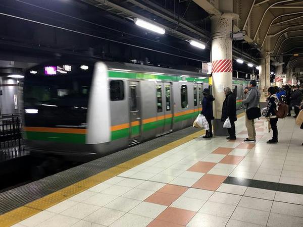 JR上野駅から乗車した宇都宮行き通勤快速