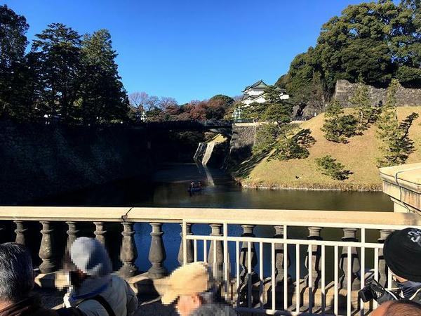 正門石橋から見た正門鉄橋(二重橋)