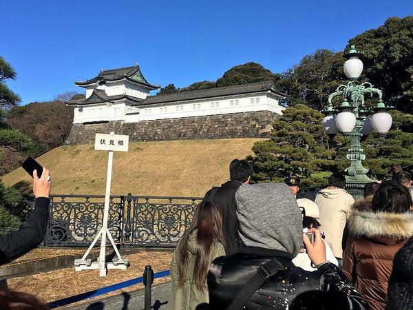江戸城伏見櫓と正門鉄橋のランプ