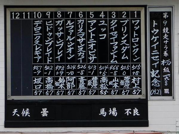 トウケイニセイ記念の出馬表