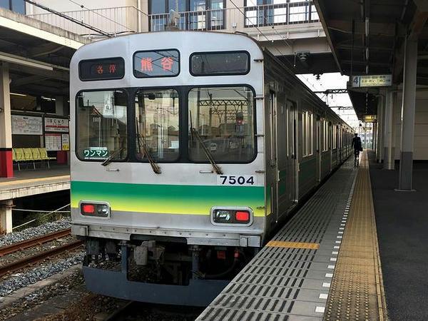 先発の熊谷行き普通列車