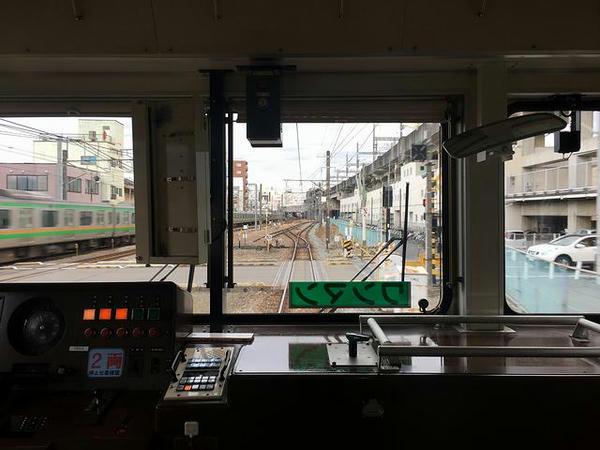 JR高崎線と併走(最後部の窓から)