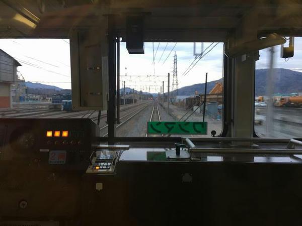武州原谷駅付近を通過(最後部の窓から)